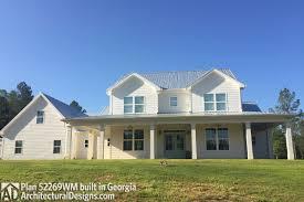 farmhouse plan 52269wm comes to life in georgia fburg floor