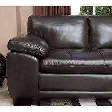 Brown Leather Sectional Sofa Abbyson Tekana Premium Italian Leather Sectional Sofa Dark Brown