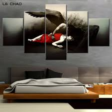 popular black angel decor buy cheap black angel decor lots from picture for living room modular pictures canvas painting posters and prints wall art home decor black angel canvas drop shipping