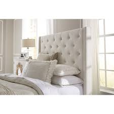 stunning wingback upholstered headboard with lark manor fares