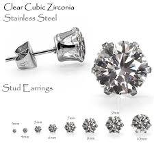 3mm diamond 2017 sizes 3mm to 10mm new design diamond gemstone earrings cubic