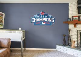chicago cubs world series champions logo wall decal shop chicago cubs world series champions logo fathead wall decal