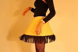 last minute diy costume leg l pleats scalloped