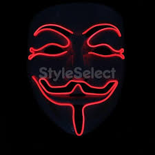 anonymous mask party el wire vendetta mask fashion v mask costume
