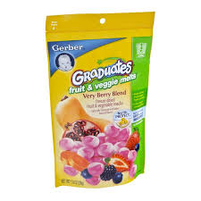 graduates snacks graduates fruit veggie melts berry blend