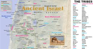 Isreal Map Ancient Israel Half Map