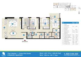 Sqm To Sqft by Park Heights In Dubai Hills Estate