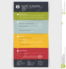 Colorful Resume Templates Free Cv Resume Template Stock Vector Image 51759143