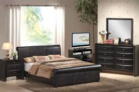 bedroom interesting cheap bedroom furniture sets ideas wholesale affordable upsholtered black leather headboard bed 2 side drawer table stand lamp flate lcd
