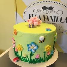 spring garden 6 inch cake ella vanilla