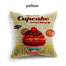 jet de canape oreiller cupcake jet de maison en décoratifs coussins de