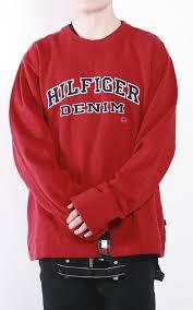 vintage hilfiger sweaters deadstock vintage hilfiger denim crewneck sweatshirt sz xl