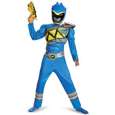 Birthday Suit Halloween Costume by Power Rangers Dino Charge Boys Blue Ranger Muscle Costume