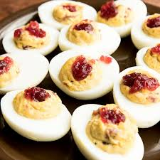 thanksgiving cranberry deviled eggs recipe mccormick