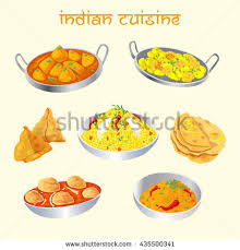 set cuisine indian cuisine dishes set เวกเตอร สต อก 435500341