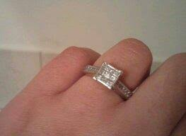 Jcpenney Wedding Rings by 1 Ct T W Diamond Engagement Ring 10k White Gold Jcpenney