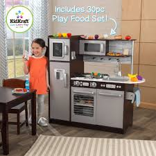 Kitchen Set Kidkraft Uptown Wooden Play Kitchen Espresso Walmart Com