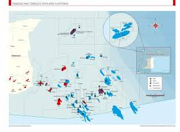 Trinidad Map Offshore Platforms Trinidad U0026 Tobago The Oil U0026 Gas Year