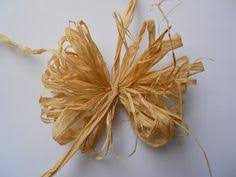raffia bows how to make a bow fall crafts craft bows