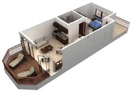 One Bedroom Floor Plans One Bedroom Apartment Plans And Designs Cuantarzon Com