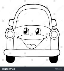 cartoon cars coloring pages cute car coloring page illustration stock vector 117293776