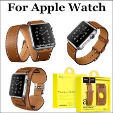 double strap bracelet images Hoco 3 in watch band strap genuine leather bracelet double circle jpg