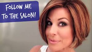 new haircut and color at the salon youtube