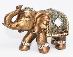 feng shui elegant elephant trunk statue lucky wealth figurine gift