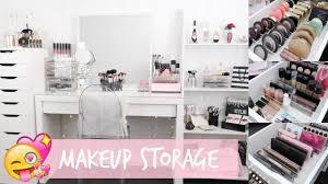 makeup storage u0026 organization for ikea alex drawers youtube