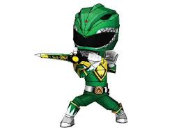 rangers chibi green ranger free papercraft download