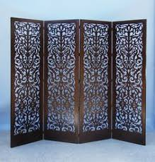 Screens Room Dividers by 6 Ft Tall India Double Sided Canvas Room Divider Contemporary
