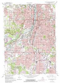 Grand Rapids Michigan Map by Grand Rapids West Topographic Map Mi Usgs Topo Quad 42085h6
