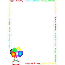 birthday borders microsoft word free download clip art