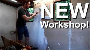 building a workshop building a workshop in a shed youtube