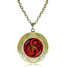 aliexpress yang black red yin yang necklace dragon and phoenix pendant necklace