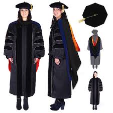 doctorate gown premium doctoral regalia set official design phd gown and