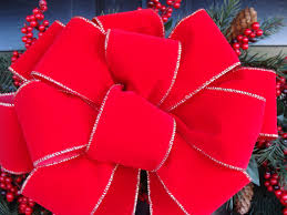 decorative bows 2 decorative christmas bows wreath bow for by elegantwreath 24 00