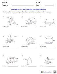 surface area and volume worksheets grade 10 stinksnthings