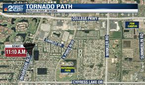 Weather Florida Map by Weather Blog Mapping The Lee Co Tornado Nbc 2 Com Wbbh News