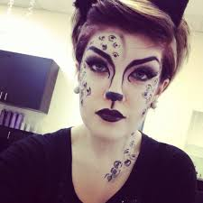 catwoman makeup halloween snow leopard makeup happy halloween makeup pinterest