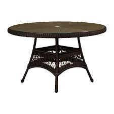 Wicker Dining Room Furniture Shop Tortuga Outdoor Lexington 48 In W X 48 In L Round Wicker