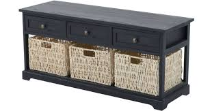 rustic storage bench w baskets only 87 49 shipped u2013 hip2save