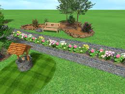 Retaining Wall Ideas For Sloped Backyard Landscape Design Software Gallery Page 5