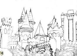 castle coloring pages hellokids