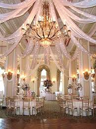 wow what a gorgeous place for a reception tulle decorations
