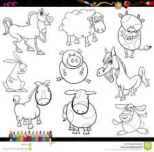 best hd farm animals printable coloring pages vector pictures