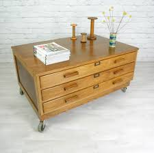 vintage industrial oak architect plan chest map chest drawers