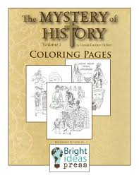 the mystery of history volume ii coloring pages bright ideas press