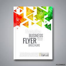 cover report colorful triangle geometric prospectus design