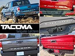 toyota tacoma tailgate amazon com toyota tacoma 2016 2017 rear tailgate letter insert